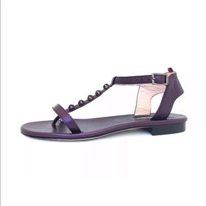SJP  Purple Ankle T Strap Stadded Sandals Sz. 6.5M